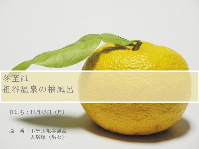 イベント柚子湯(葉付き)