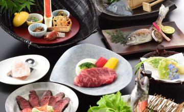 オススメ♪料理人気第1位♪阿波牛&鹿肉ロースト&あめご姿造りの特別会席料理プラン