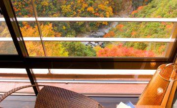 展望風呂付客室 花伝 祖谷渓谷の紅葉